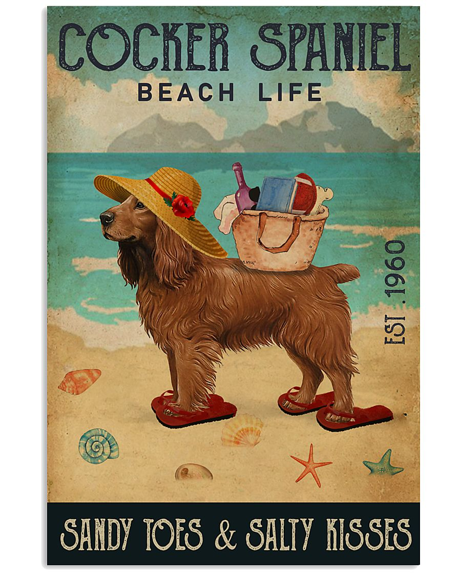 Beach Life Sandy Toes Cocker Spaniel 11x17 Poster