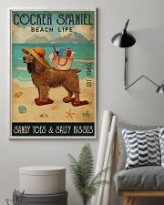 Beach Life Sandy Toes Cocker Spaniel 11x17 Poster lifestyle-poster-1