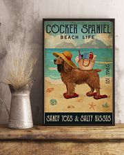 Beach Life Sandy Toes Cocker Spaniel 11x17 Poster lifestyle-poster-3