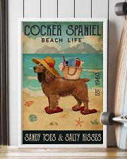 Beach Life Sandy Toes Cocker Spaniel 11x17 Poster lifestyle-poster-4