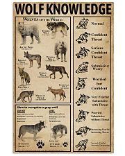 Wolf Type Knowledge 11x17 Poster front
