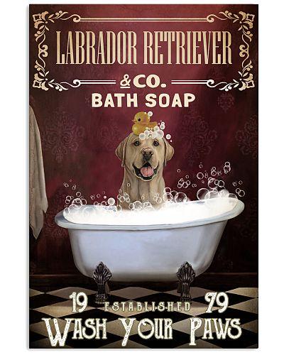 Red Bath Soap Labrador Retriever