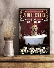 Red Bath Soap Labrador Retriever 11x17 Poster lifestyle-poster-3