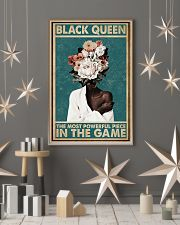 Retro Teal Most Powerful Flower Black 11x17 Poster lifestyle-holiday-poster-1