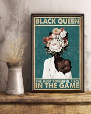 Retro Teal Most Powerful Flower Black 11x17 Poster lifestyle-poster-3