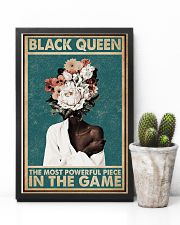 Retro Teal Most Powerful Flower Black 11x17 Poster lifestyle-poster-8