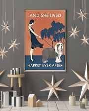 Vintage Girl Lived Happily Bearded Collie 11x17 Poster lifestyle-holiday-poster-1