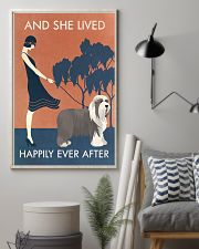 Vintage Girl Lived Happily Bearded Collie 11x17 Poster lifestyle-poster-1