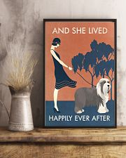 Vintage Girl Lived Happily Bearded Collie 11x17 Poster lifestyle-poster-3