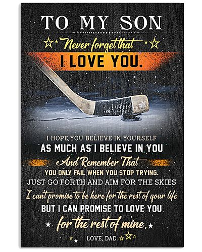 Hockey To My Son  Believe In Yourself