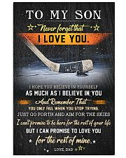 Hockey To My Son  Believe In Yourself 11x17 Poster front