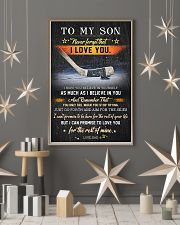 Hockey To My Son  Believe In Yourself 11x17 Poster lifestyle-holiday-poster-1