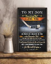 Hockey To My Son  Believe In Yourself 11x17 Poster lifestyle-poster-3