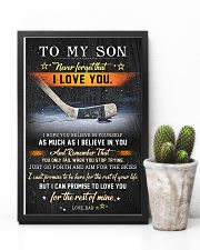 Hockey To My Son  Believe In Yourself 11x17 Poster lifestyle-poster-8