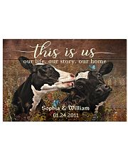Personalized Holstein Cattle This is Us 24x16 Poster front