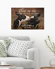 Personalized Holstein Cattle This is Us 24x16 Poster poster-landscape-24x16-lifestyle-01