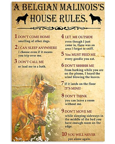 Belgian Malinois House Rules