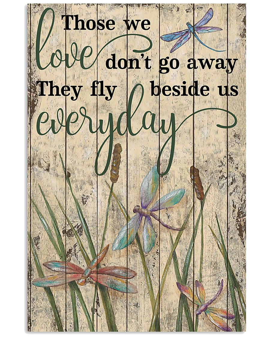 Those We Love Grass Dragonfly 11x17 Poster