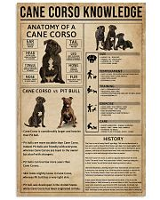Cane Corso Knowledge Dog 11x17 Poster front
