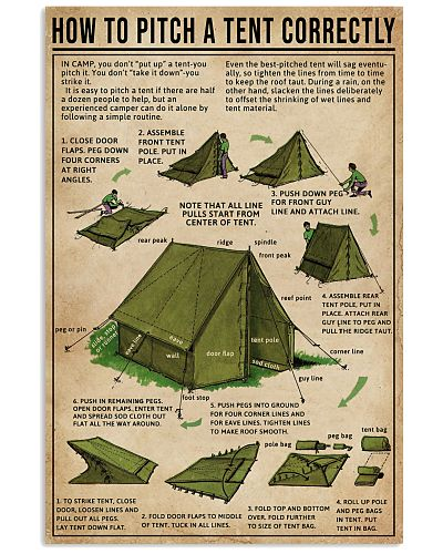 How To Pitch A Tent Correctly