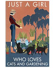 Vintage Just A Girl Loves Gardening And Black Cat 11x17 Poster front