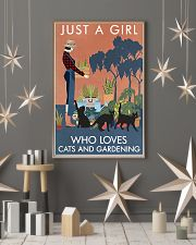 Vintage Just A Girl Loves Gardening And Black Cat 11x17 Poster lifestyle-holiday-poster-1