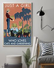Vintage Just A Girl Loves Gardening And Black Cat 11x17 Poster lifestyle-poster-1