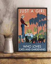 Vintage Just A Girl Loves Gardening And Black Cat 11x17 Poster lifestyle-poster-3