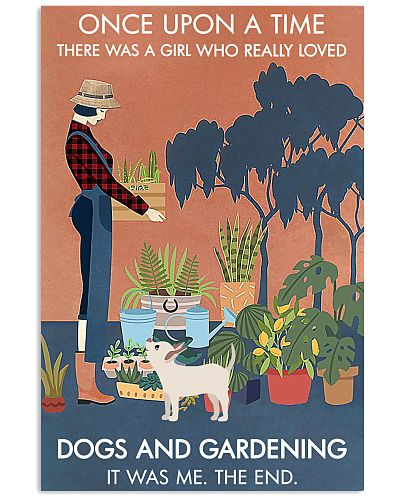 Vintage Once Upon A Time Dog Gardening