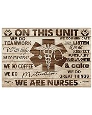 Nurse On This Unit We Are Nurses Wood Style 24x16 Poster front