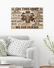 Nurse On This Unit We Are Nurses Wood Style 24x16 Poster poster-landscape-24x16-lifestyle-01