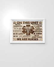 Nurse On This Unit We Are Nurses Wood Style 24x16 Poster poster-landscape-24x16-lifestyle-02