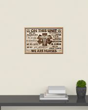 Nurse On This Unit We Are Nurses Wood Style 24x16 Poster poster-landscape-24x16-lifestyle-09