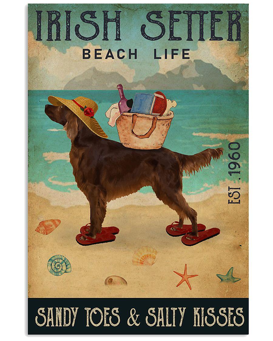Beach Life Sandy Toes Irish Setter 11x17 Poster