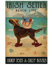 Beach Life Sandy Toes Irish Setter 11x17 Poster front