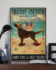 Beach Life Sandy Toes Irish Setter 11x17 Poster lifestyle-poster-2