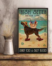 Beach Life Sandy Toes Irish Setter 11x17 Poster lifestyle-poster-3