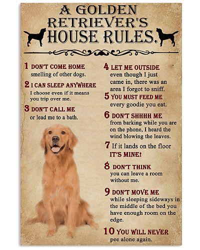 A Golden Retriever's House Rules