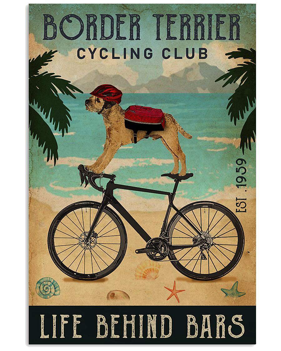 Cycling Club Border Terrier 11x17 Poster