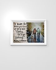 Personalized Fishing Hold You Hand 24x16 Poster poster-landscape-24x16-lifestyle-02