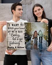 Personalized Fishing Hold You Hand 24x16 Poster poster-landscape-24x16-lifestyle-21
