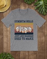 Synonym Rolls Funny Grammar Retro Navy - On Sale Classic T-Shirt lifestyle-mens-crewneck-front-18