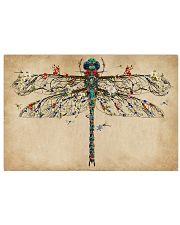Vintage Floral Dragonfly 17x11 Poster front