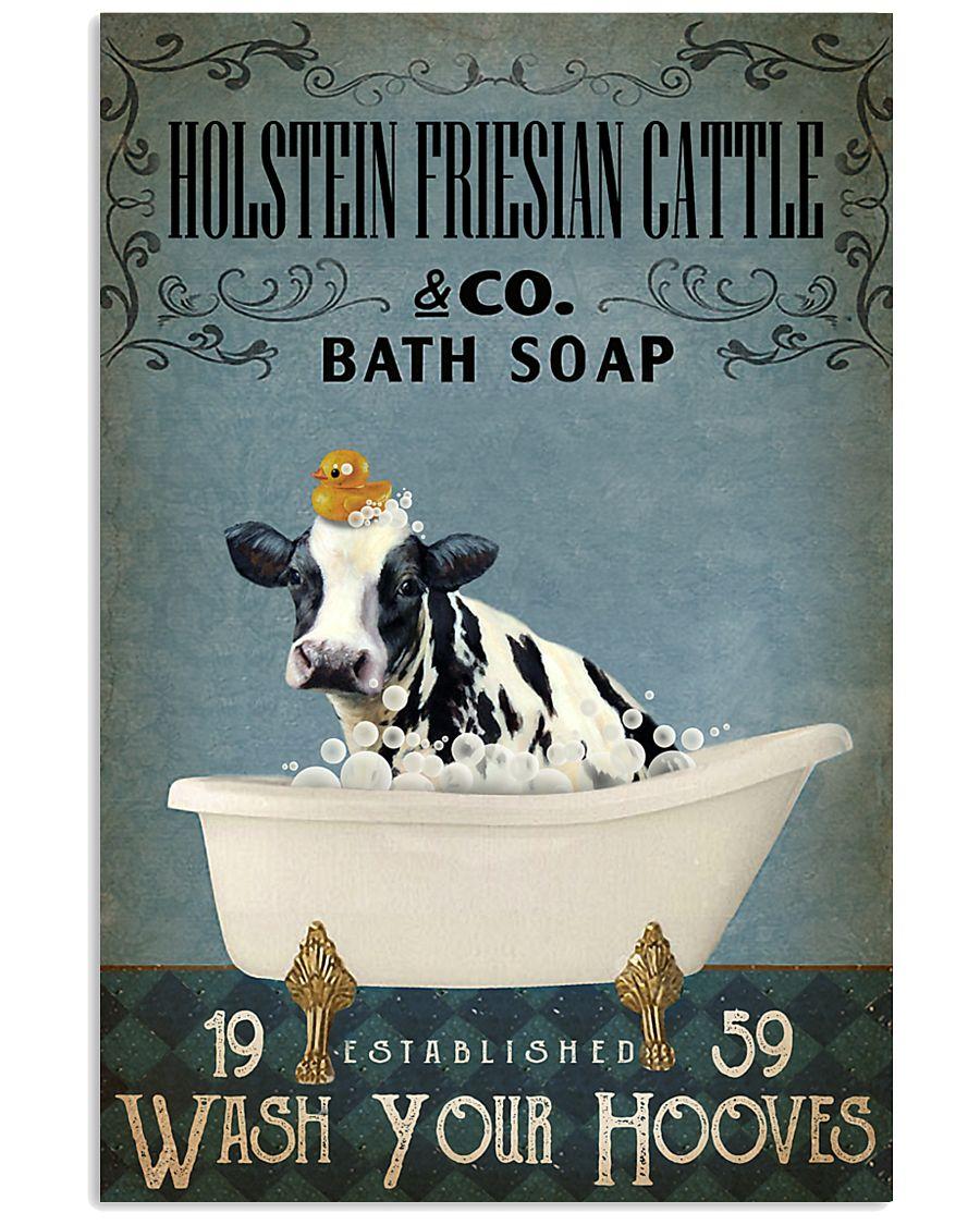 Vintage Bath Soap Holstein Friesian Cattle 11x17 Poster