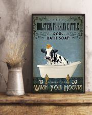 Vintage Bath Soap Holstein Friesian Cattle 11x17 Poster lifestyle-poster-3