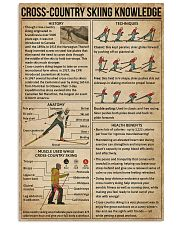 Cross-country Skiing Knowledge 11x17 Poster front