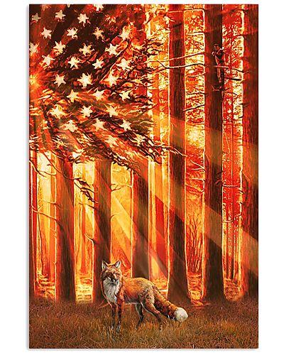 Hunting Fox In The Sun Flag