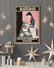 Baking Because Murder Is Wrong Baking 16x24 Poster lifestyle-holiday-poster-1