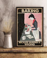 Baking Because Murder Is Wrong Baking 16x24 Poster lifestyle-poster-3