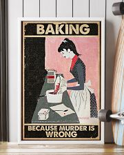 Baking Because Murder Is Wrong Baking 16x24 Poster lifestyle-poster-4